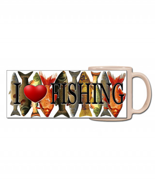Чаша I love fishing