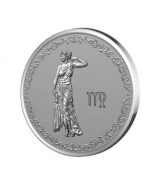 Сребърен медальон Зодия Дева