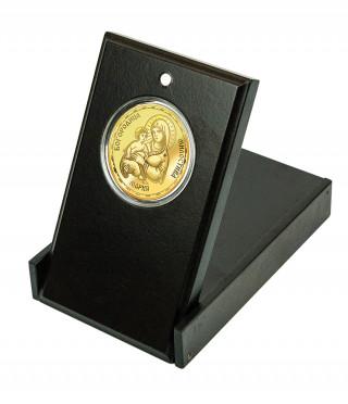 Медал Св. Богородица Умиление с цялостна позлата