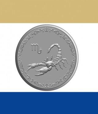 Сребърен медальон Зодия Скорпион