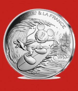 Сребърна монета Мики Маус във Франция