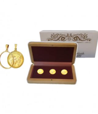 Колекция талисмани Вяра, Надежда и Любов, с масивно златно покритие