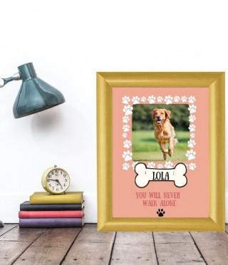 Персонализиран колаж за куче You will never walk alone