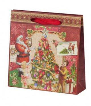 Дядо Коледа харт.торба средна пакет 10бр.