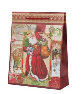 Дядо Коледа харт.торба голяма пакет 10бр.