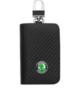 Ключодържател с лого на Skoda - карбон