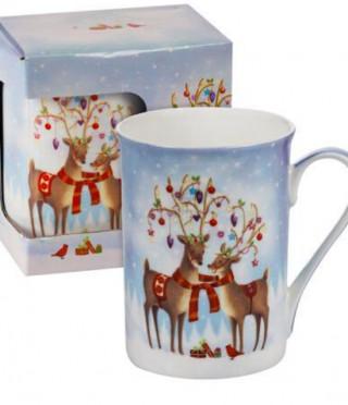 Чаша в кутия Коледни еленчета