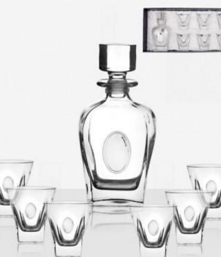 Fusion сет за уиски, сребърна плочка