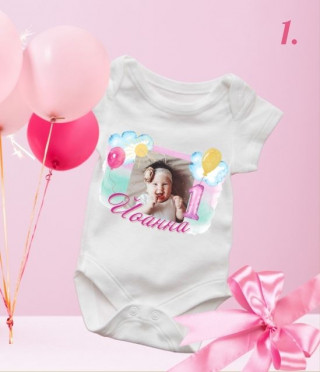 Персонализирано боди за рожден ден или кръщене за момиче