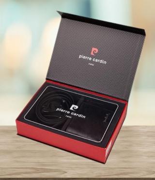 Луксозен сет от колан и портфейл  - PIERRE CARDIN - 120 см
