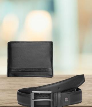 Комплект колан и портфейл - PIERRE CARDIN - 115 см