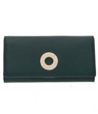 Дамско портмоне в елхово зелено ROSSI