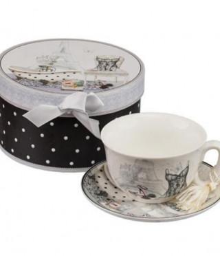 Париж чаша+чинийка