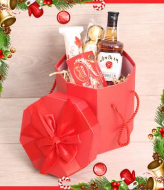 Коледна подаръчна кутия с Jim Beam