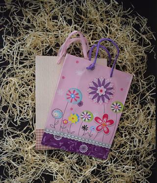 Подаръчна торбичка на цветя
