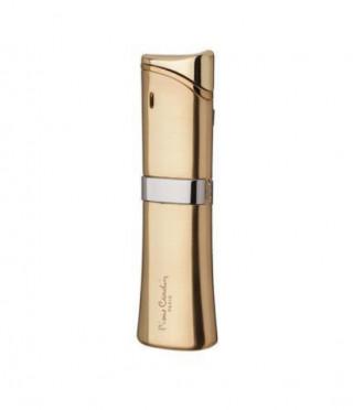 Тънка златна запалка с надпис  Pierre Carrdin