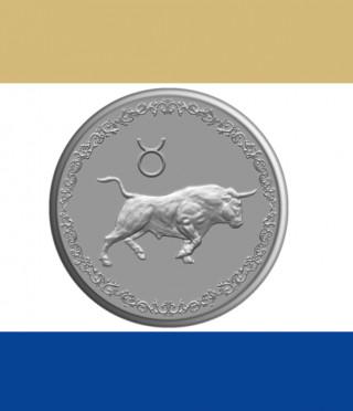 Сребърен медальон Зодия Телец