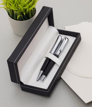 Комплект химикалка и ролер с гравиран текст