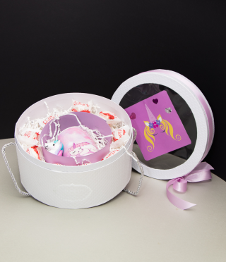 Women set of unicorn or flamingo with a cup