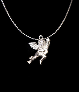 Silver Necklace Angel