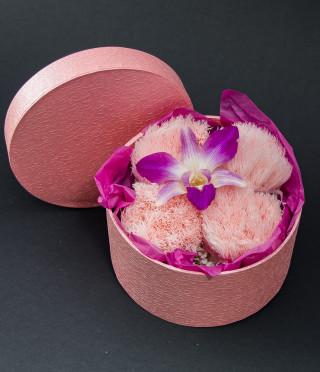 Аранжировка с орхидея в кутия