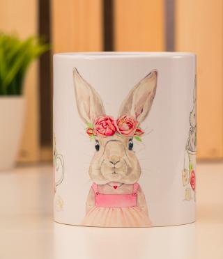 Ceramic Cup Bunnies
