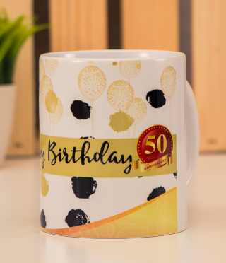Ceramic Cup Happy Birthday 50