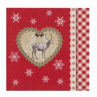 Салфетки Коледен елен