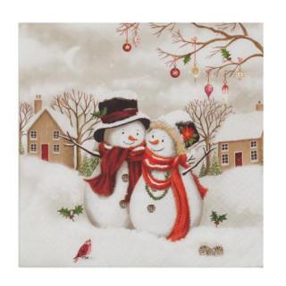 Салфетки снежни човечета