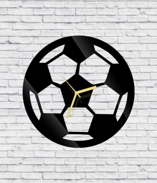 Soccer ball clock, wall mounted