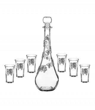 Сет 6 чаши+ бутилка лоза