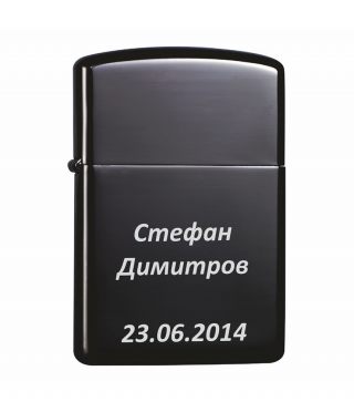 Engraved lighter TEAM PISTOL-Gloss Black