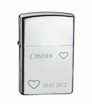 Engraved lighter TEAM PISTOL-glossy surface