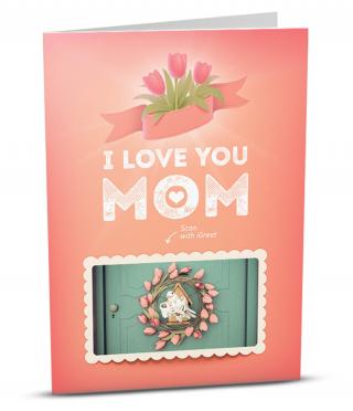 Augmented Reality card I Love you Mom
