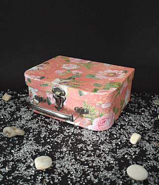 Кутия куфарче на цветя оранж