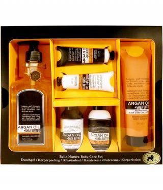 Луксозен дамски комплект с масла от арган и ший, 6 части