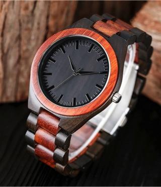 Handheld wooden clock
