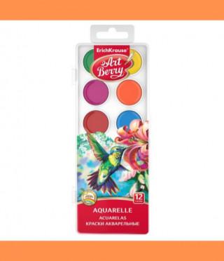 Акварелна боя, 12 цвята с UV защита