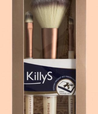 KillyS комплект 3 броя четки за грим