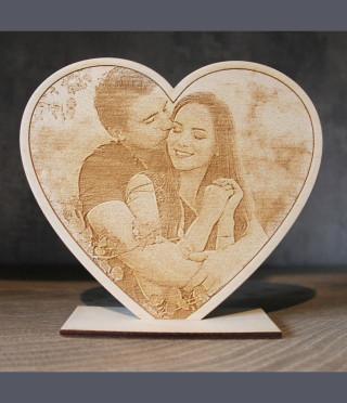 Сърце с гравирана снимка