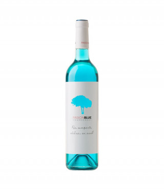 Бутилка синьо вино Pasion Blue