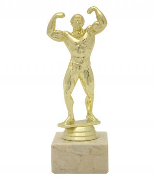Статуетка Фитнес - мъж с гравирана табелка