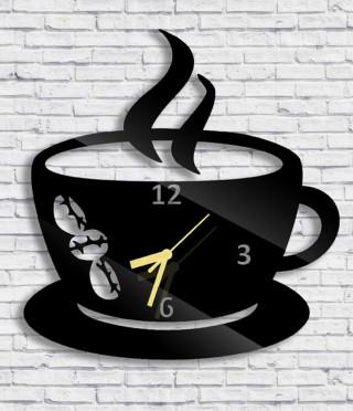 Стенен часовник Чаша с кафе