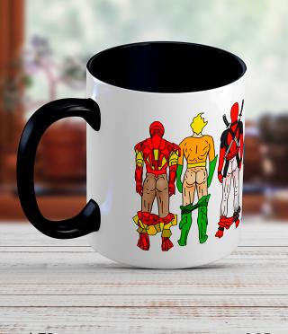 Керамична чаша с мъже супер герои