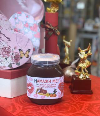 Течен шоколад с персонализиран етикет