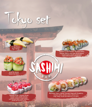 Tokyo set-sushi gift voucher prepared at your place