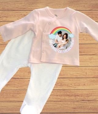 Бебешки комплект за новородено момиченце с персонализация