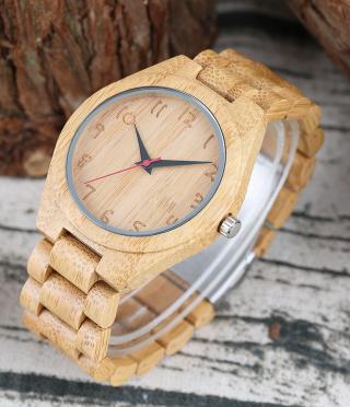 Мъжки часовник от светло дърво