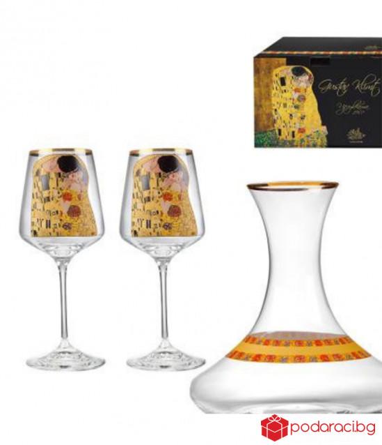 The Kiss сет за вино + декантер