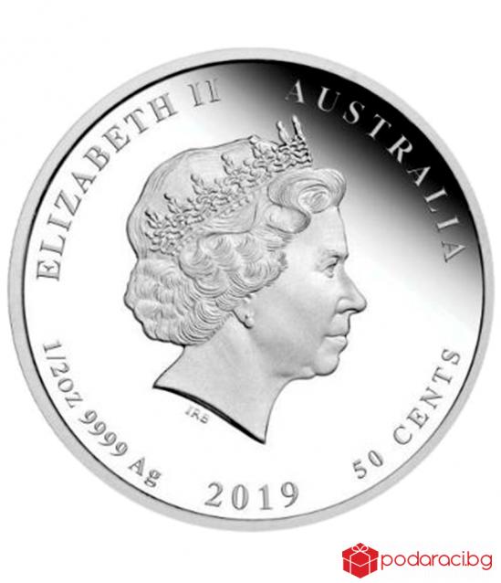 """Сребърна монета """"Лунен календар - Годината на Прасето 2019"""""""